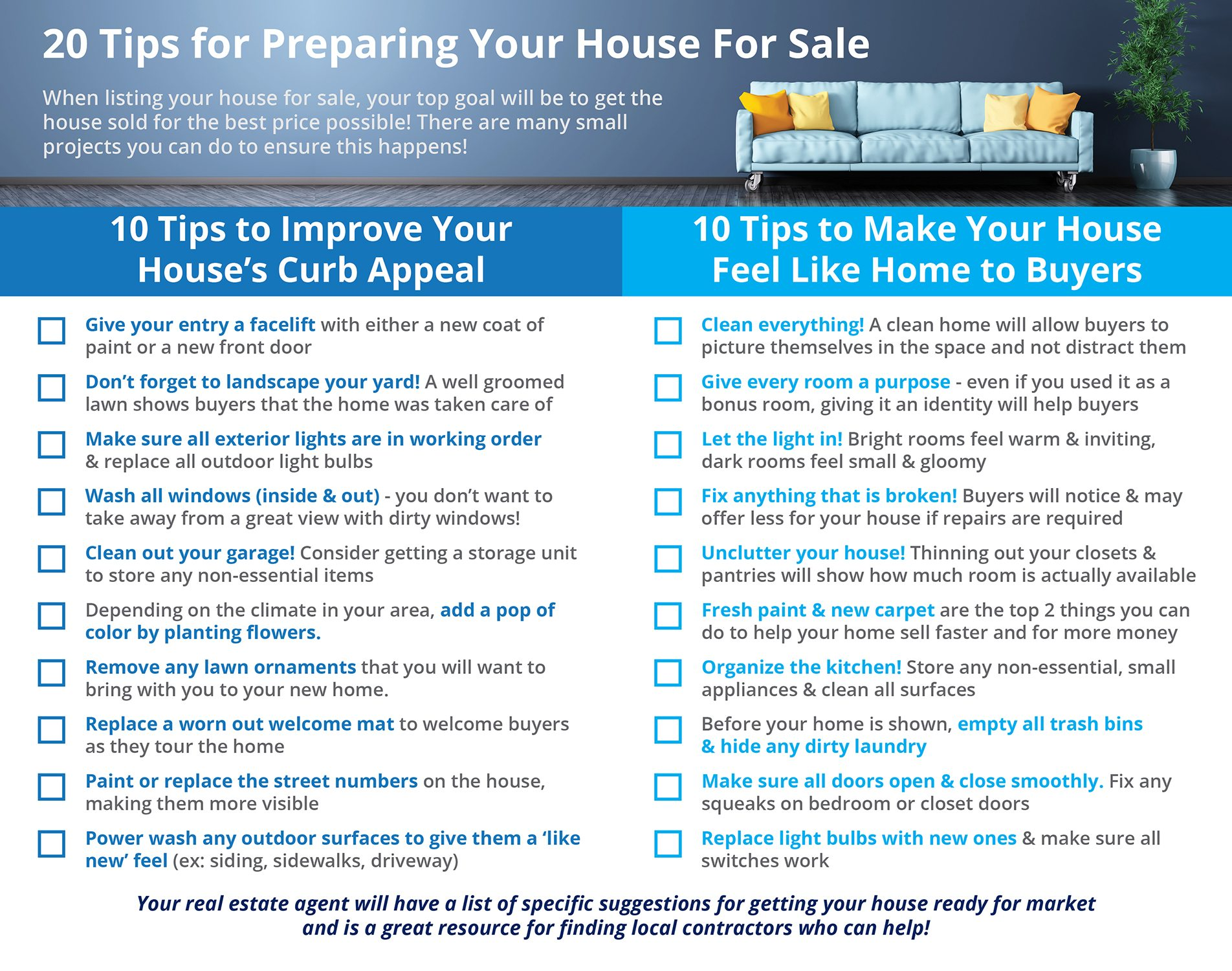Tips for Preparing Your House for Sale This Spring [INFOGRAPHIC]   Simplifying The Market
